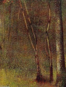 Georges Pierre Seurat - In the Woods at Pontaubert