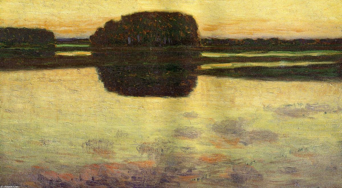 Ipswich Marsh, 1900 by Arthur Wesley Dow (1857-1922, United Kingdom) | Famous Paintings Reproductions | WahooArt.com