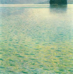 Gustav Klimt - Island in the Attersee