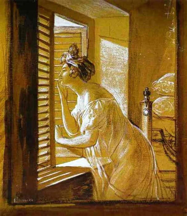 Italian Woman Blowing a Kiss, 1826 by Karl Pavlovich Brulloff | Oil Painting | WahooArt.com