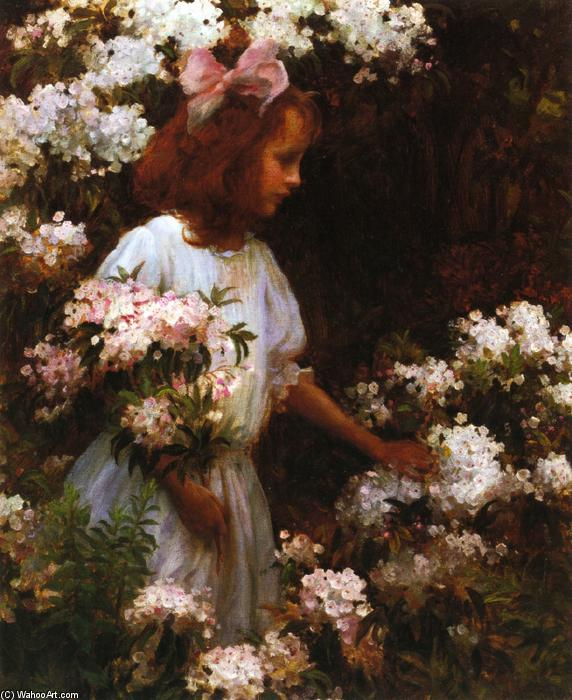 Jane Huntington McKelvey, 1910 by Charles Courtney Curran (1861-1942, United States) | Art Reproductions Charles Courtney Curran | WahooArt.com