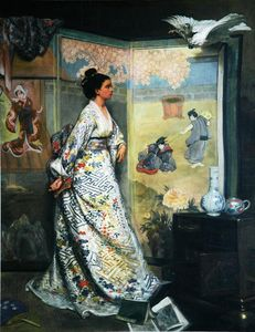 Gustave Leonard De Jonghe - The Japanese Fan (also known as L?admiratrice du Japon)