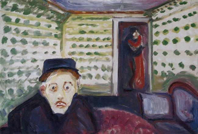 Jealousy, 1895 by Edvard Munch (1863-1944, Sweden) | Museum Art Reproductions Edvard Munch | WahooArt.com