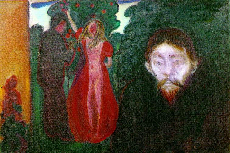 Jealousy, Oil On Canvas by Edvard Munch (1863-1944, Norway)