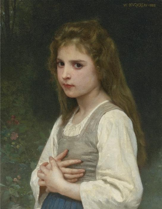 Jeanne, Oil On Canvas by William Adolphe Bouguereau (1825-1905, France)