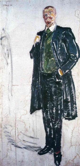 Jens Thiis, Oil On Canvas by Edvard Munch (1863-1944, Sweden)