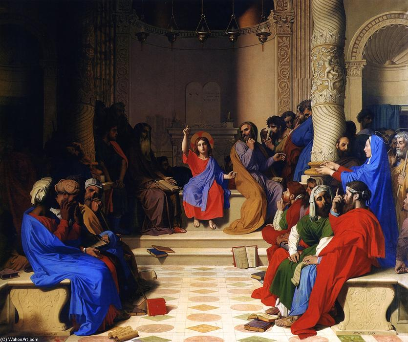 Jesus Among the Doctors, 1862 by Jean Auguste Dominique Ingres (1780-1867, France)