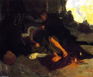 Henry Ossawa Tanner - Job and His Three Friends