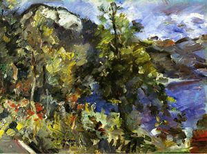 Order Oil Painting : The Jochberg and the Walchensee, 1924 by Lovis Corinth (Franz Heinrich Louis) (1858-1925, Netherlands) | WahooArt.com