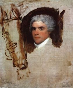 Gilbert Stuart - John Bill Ricketts (unfinished) (also known as Breschard, the Circus Rider)