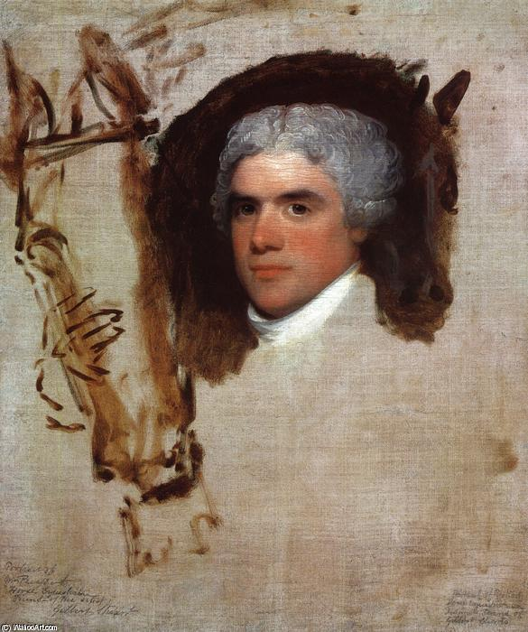 John Bill Ricketts (unfinished) (also known as Breschard, the Circus Rider), 1807 by Gilbert Stuart (1755-1828, United Kingdom) | Famous Paintings Reproductions | WahooArt.com