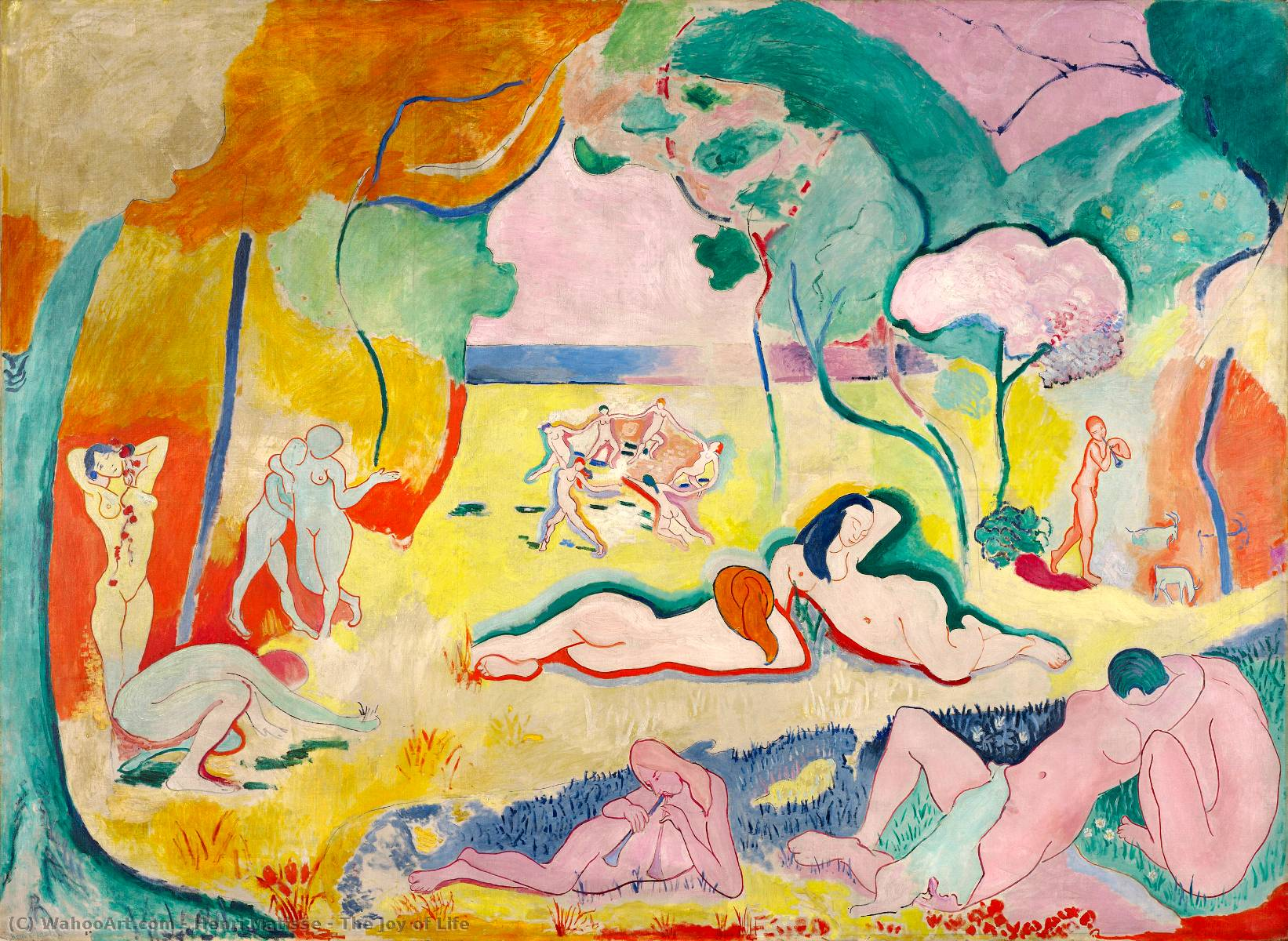 The Joy of Life, Oil On Canvas by Henri Matisse (1869-1954, France)