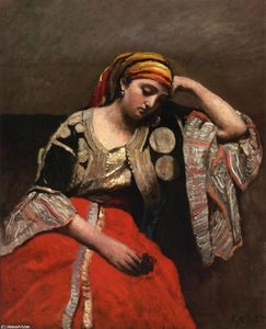 Jean Baptiste Camille Corot - Juive d'Alger (also known as L'Italienne)