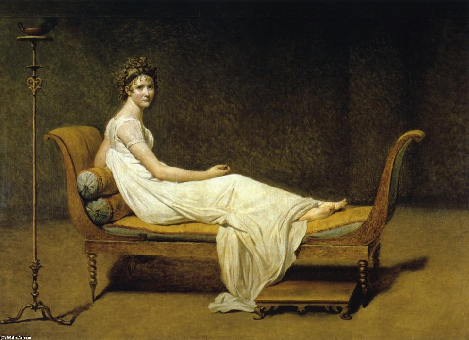 Juliette Recamier, 1800 by Jacques Louis David (1748-1800, France) | Art Reproduction | WahooArt.com