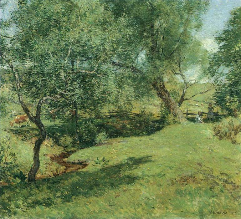 June Pastoral, 1910 by Willard Leroy Metcalf (1858-1925, United States) | Museum Quality Reproductions | WahooArt.com