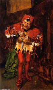 William Merritt Chase - Keying Up - The Court Jester (study)