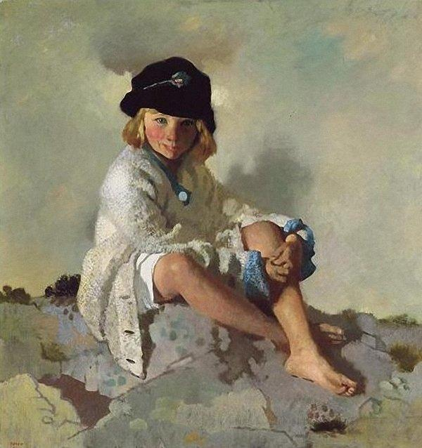 Kit, 1913 by William Newenham Montague Orpen (1878-1931, Ireland) | Painting Copy | WahooArt.com