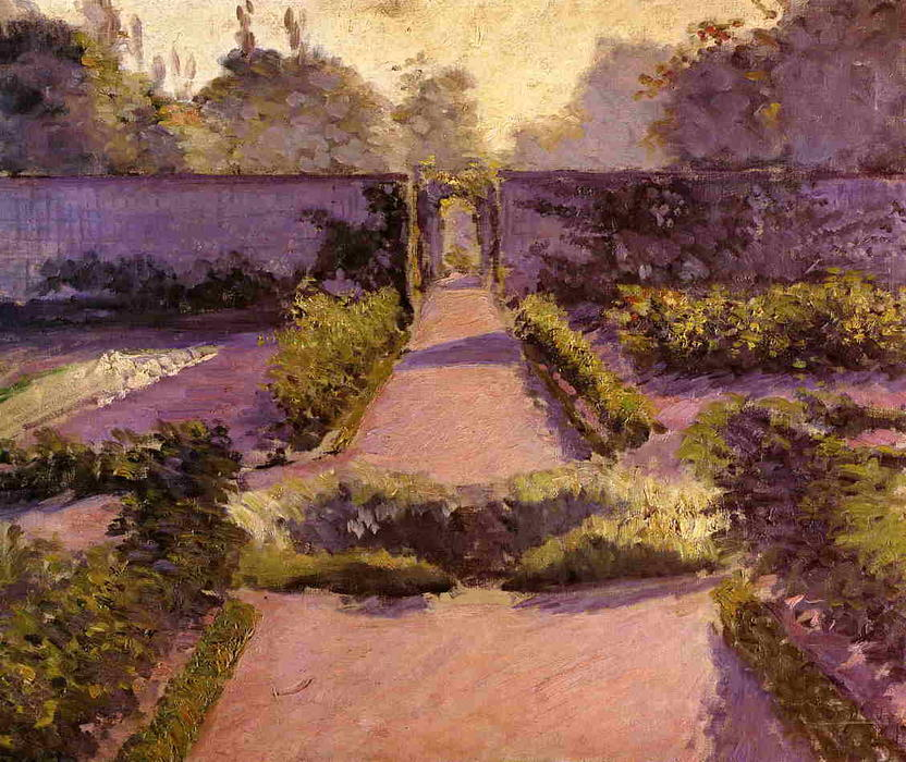 The Kitchen Garden, Yerres, Oil On Canvas by Gustave Caillebotte (1848-1894, France)