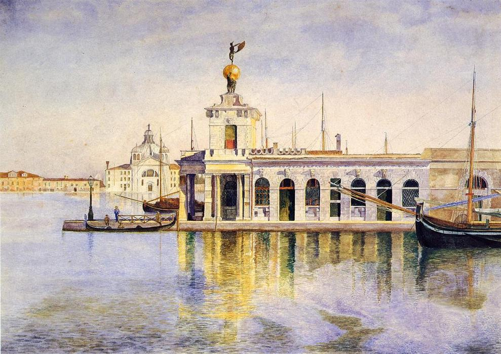Ladogana, Venice, Watercolour by Henry Roderick Newman (1833-1918, United States)