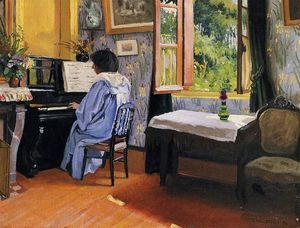 Felix Vallotton - Lady at the Piano