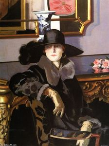 Francis Campbell Boileau Cadell - Lady in Black