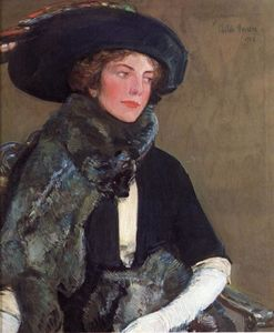 Frederick Childe Hassam - Lady in Furs (also known as Mrs. Charles A. Searles)