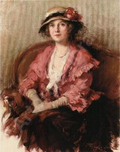 Fernand Toussaint - Lady in a Hat