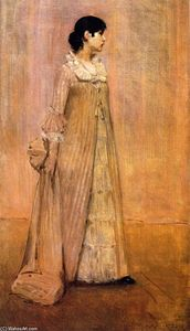 William Merritt Chase - Lady in Pink (also known as The Artist-s Wife)