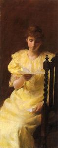 Charles Courtney Curran - Lady in Yellow