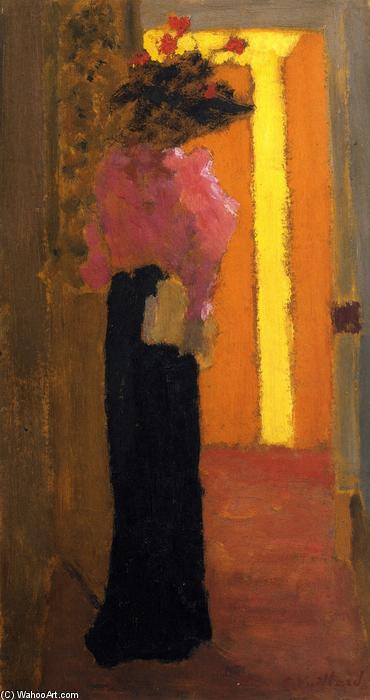 Lady of Fashion, Oil On Panel by Jean Edouard Vuillard (1868-1940, France)