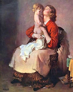 William Newenham Montague Orpen - Lady Orpen and Child