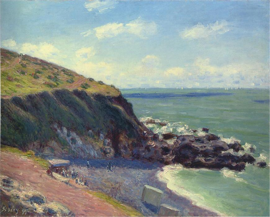 Lady s Cove, 1897 by Alfred Sisley (1839-1899, France) | Oil Painting | WahooArt.com