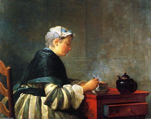 Jean-Baptiste Simeon Chardin - A Lady Taking Tea