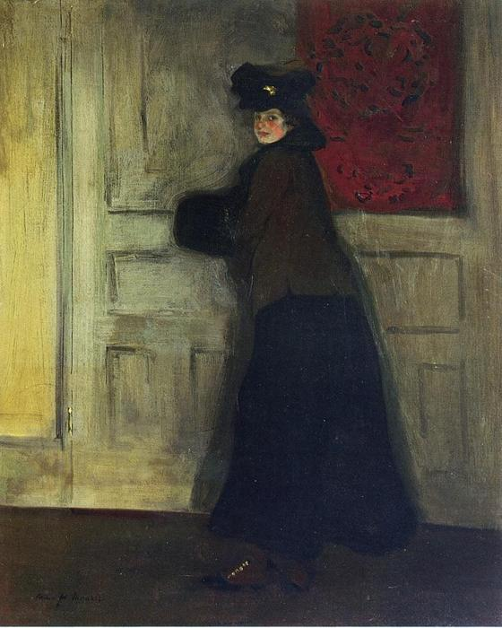 Buy Museum Art Reproductions | Lady with Muff, 1904 by Alfred Henry Maurer (1868-1932, United States) | WahooArt.com