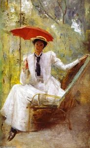 Thomas William Roberts - Lady with a Parasol