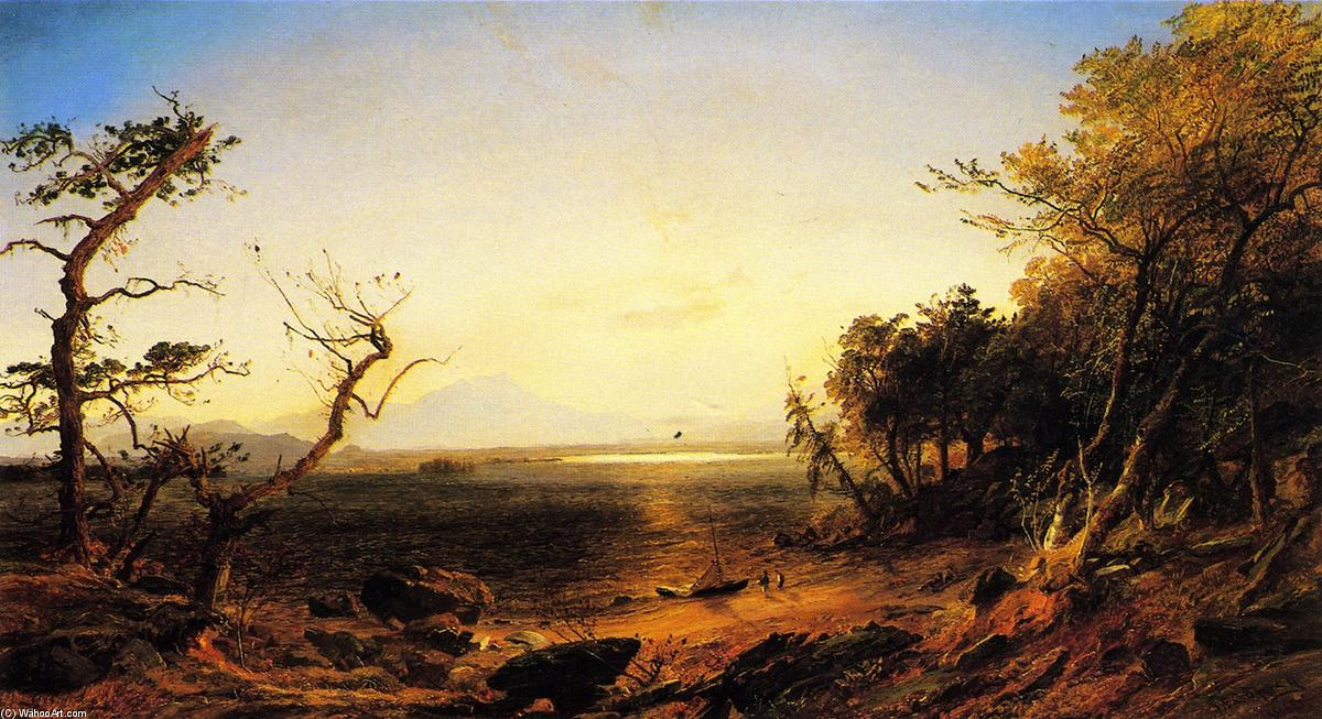 Lake George, Oil On Canvas by Jasper Francis Cropsey (1823-1900, United States)