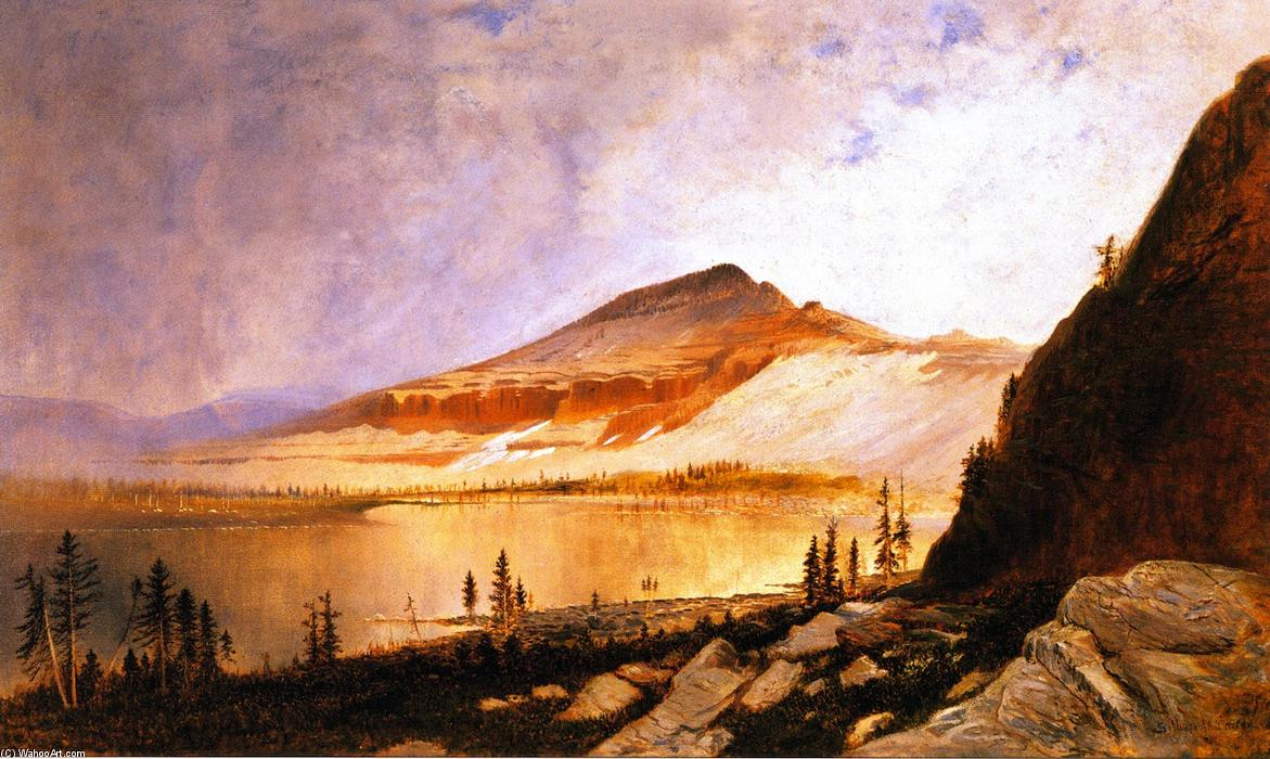 Lake Lall and Mount Agassiz, Uinta Range, Utah, 1871 by Gilbert Munger (1837-1903, United States) | Museum Quality Reproductions | WahooArt.com
