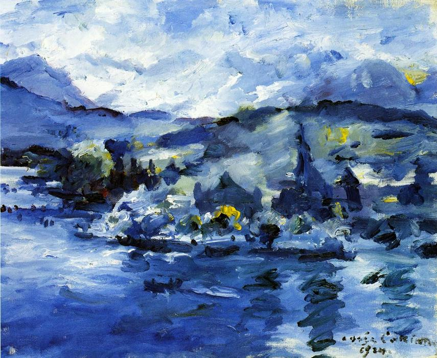 Lake Lucerne, Afternoon, Oil On Canvas by Lovis Corinth (Franz Heinrich Louis) (1858-1925, Netherlands)
