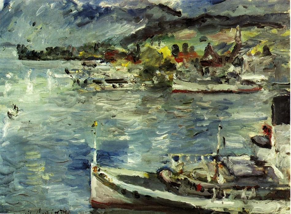 Order Museum Quality Reproductions : Lake Lucerne, Morning, 1924 by Lovis Corinth (Franz Heinrich Louis) (1858-1925, Netherlands) | WahooArt.com
