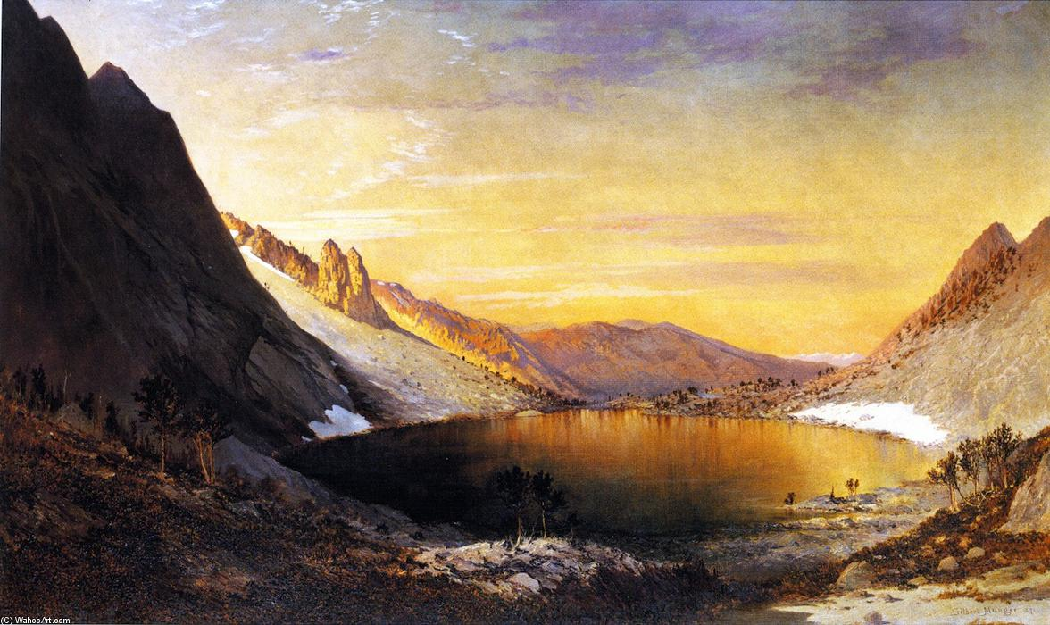 Lake Marian, Humbolt Range, Nevada, 1871 by Gilbert Munger (1837-1903, United States) | Oil Painting | WahooArt.com