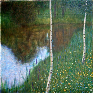 Gustav Klimt - Lakeside with Birch Trees