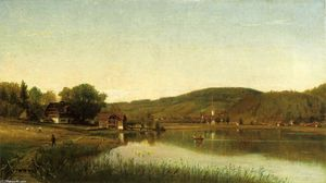 Thomas Worthington Whittredge - Lake Village (also known as Swiss Scene)