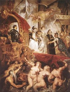 Peter Paul Rubens - The Landing of Marie de Medici at Marseilles