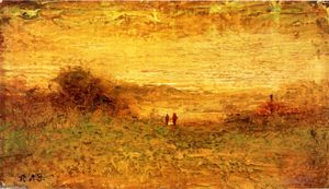Order Reproductions | Landscape, 1880 by Ralph Albert Blakelock (1847-1919, United States) | WahooArt.com