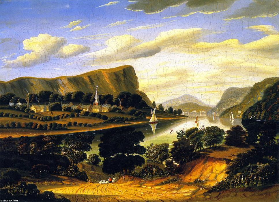 Order Museum Quality Reproductions : Landscape and the Village of Caldwell by Thomas Chambers (1808-1869) | WahooArt.com
