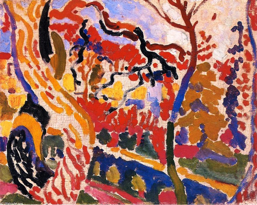 Landscape at Collioure, 1905 by André Derain (1880-1954, France) | Oil Painting | WahooArt.com