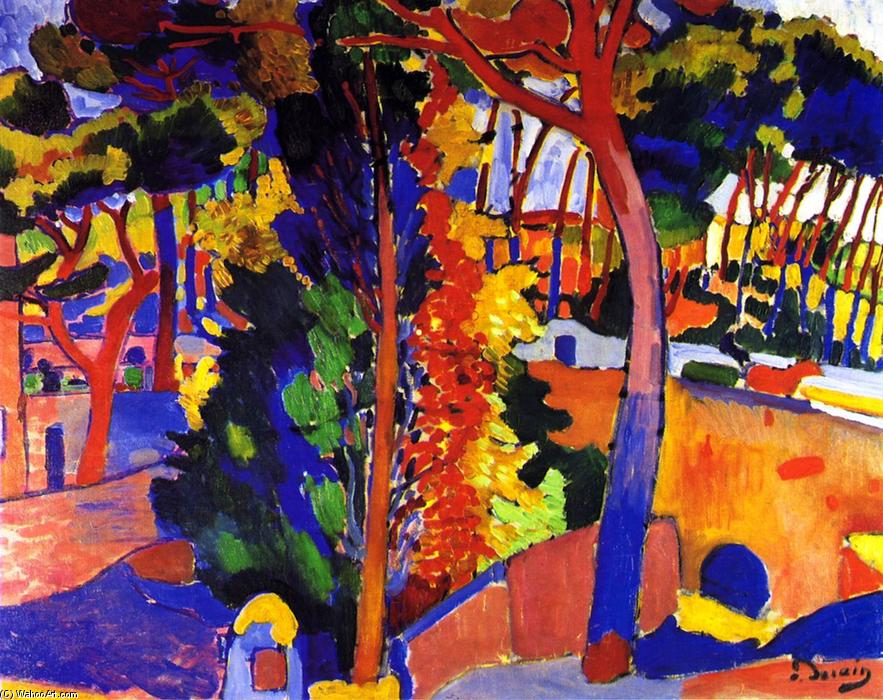 Landscape at L`Estaque, 1906 by André Derain (1880-1954, France) | Museum Quality Reproductions | WahooArt.com