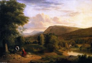Asher Brown Durand - Landscape Composition (also known as View near Saugerties)