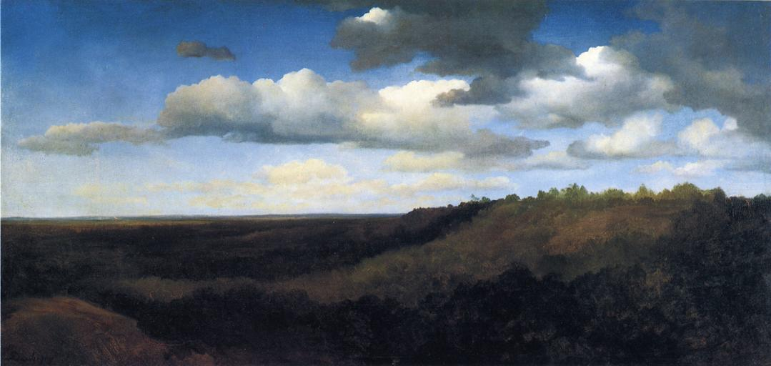 Landscape in the Campagna, Oil On Canvas by Charles François Daubigny (1817-1878, France)