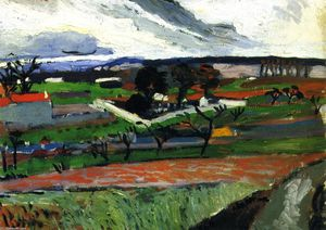 André Derain - Landscape in the Ile-de-France